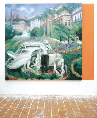 Capri, Öl auf Leinwand, 170 x 170cm, 2005