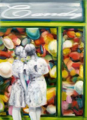 Candy shop, Öl auf Leinwand, 180 x 130cm, 2014