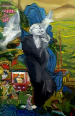 Auszug der Helden, Öl auf Leinwand, 170 x 110cm, 2008