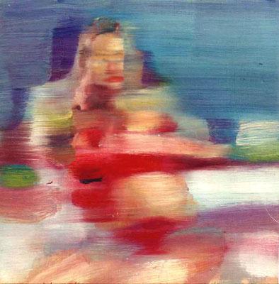 Rollergirl Helen, Öl auf Holz, 30 x 30cm, 2003