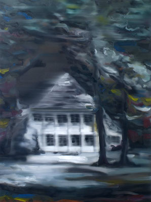 Wannsee, Öl auf Leinwand, 160 x 120cm, 2012