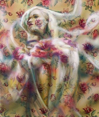 Angel, Öl auf Stoff, 130 x 110cm, 2012