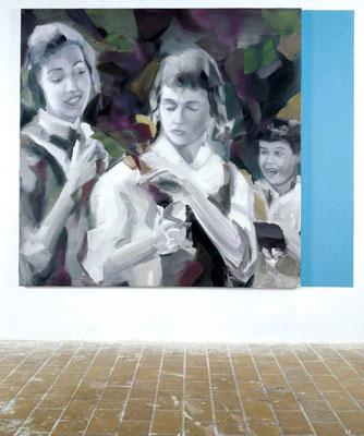 Halb so schlimm, Öl auf Leinwand, 170 x 170cm, 2005