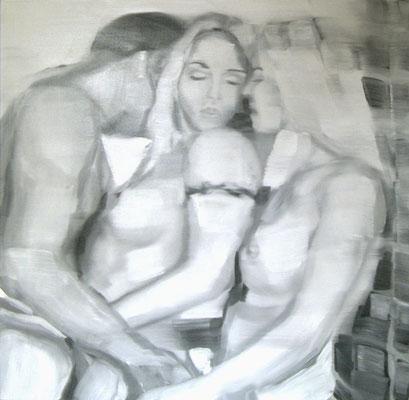 Eisprinzessin, Öl auf Leinwand, 180 x 180cm, 2003