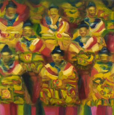 Buddas, Öl auf Leinwand, 160 x 160cm, 2008
