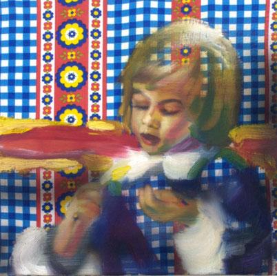 Musterknabe, Öl auf Stoff, 40 x 40cm, 2009