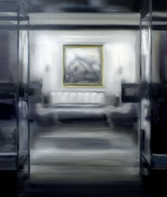 Salon, Öl auf Leinwand, 130 x 110cm, 2015