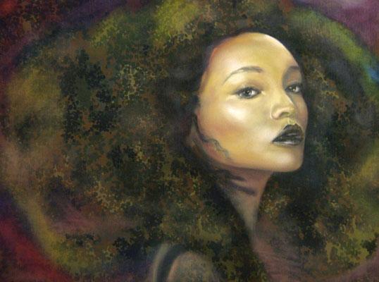 Miss Mali, Öl auf Stoff, 120 x 160cm, 2015