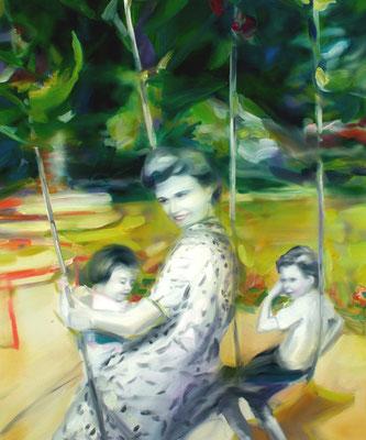 Schaukeleinheit, Öl auf Leinwand, 170 x 140cm, 2007