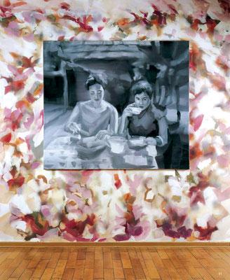 Kirschkönigin, Öl auf Leinwand, 140 x 160cm, 2006