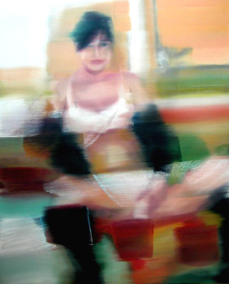 Claire, Öl auf Leinwand, 100 x 80cm, 2003