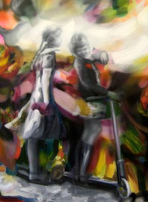 Tauch ein, Öl auf Leinwand, 160 x 120cm, 2013