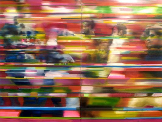 Madrid, Öl auf Leinwand, 180 x 240cm (zweiteilig), 2012