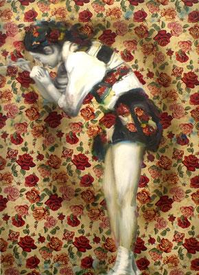 Liebes Mädchen male mir, Öl auf Stoff, 180 x 130cm, 2011