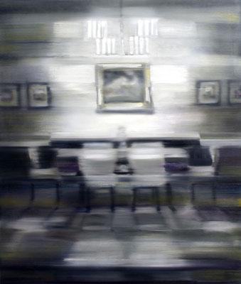 Esszimmer, Öl auf Leinwand, 130 x 110cm, 2015