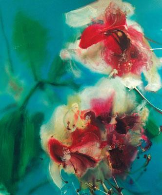 Orchidee 2001, Öl auf Leinwand, 200 x 170cm, 2001