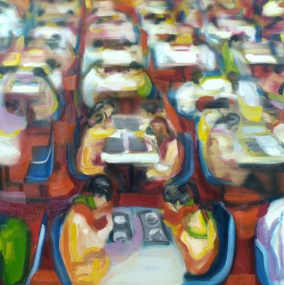 Cafe Shanghai, Öl auf Leinwand, 160 x 160cm, 2008