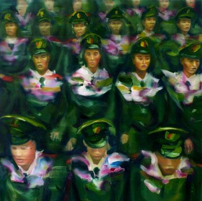 Welcome, Öl auf Leinwand, 160 x 160cm, 2008