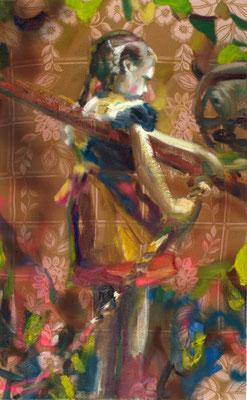 Annemarie, Öl auf Stoff, 150 x 100cm, 2009