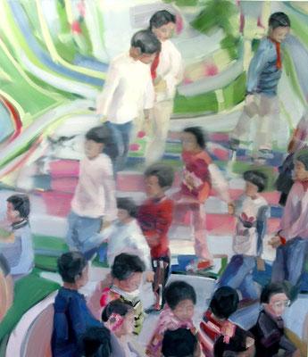 Kinder von Shanghai, Öl auf Leinwand, 200 x 170cm, 2005