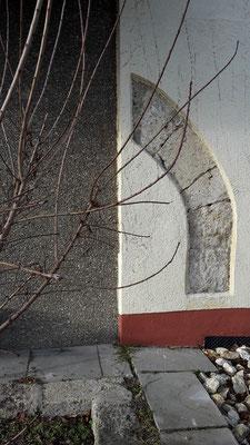 Reste des alten Kirchengebäudes
