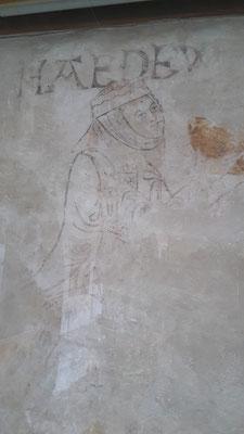 Fresco der Heiligen Hedwig aus Schlesien (11. Jhd)