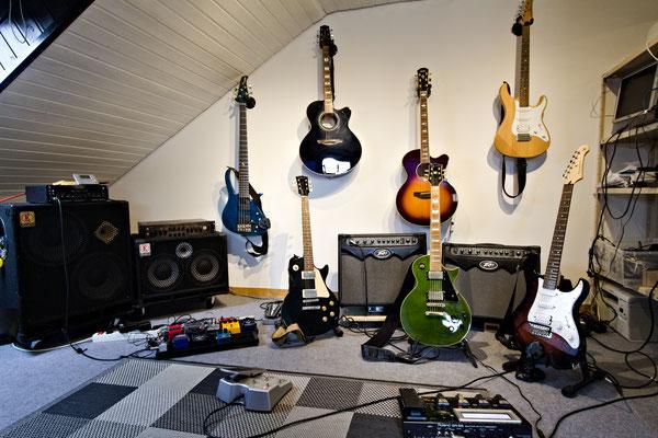 Die Gitarrenabteilung