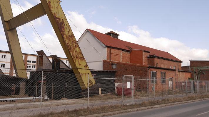 Maschinenhaus des Schachtes Holungen. Die erhaltene Fördermaschine (bj.1911) leistete noch bis zum Jahre 2017 wärend der Endverwahrung von Schacht 2 ihren Dienst.