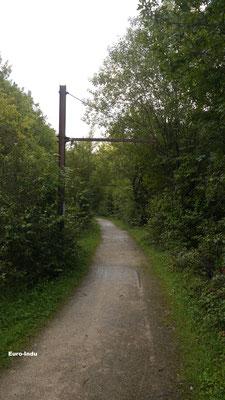 """Bahnstrecke Grouwen-Thillenberg-heute Spazierweg wo einst die """"Buggien"""" rollten"""