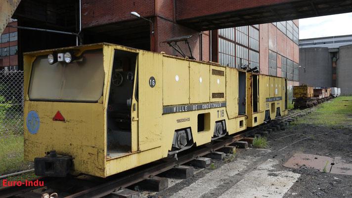 Nachdem der Bergbau auf Steinkohle am 23.04.2004 auf der Grube La Houve 3/4 sein Ende fand, wurde auch diese Lok ins Museum verschoben