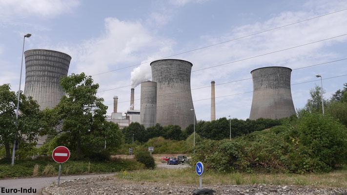"""Zur Stromversorgung des Lothringischen Bergbaugebietes wurde 1952 die """"Centrale Termique Emile Huchet"""" in Betrieb genommen"""