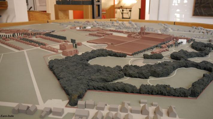 Modell der Fabrik im endgültigen Ausbauzustand