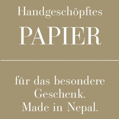 Jetzt Nepal helfen & schenken - Geschenkpapier, Karten, Geschenkbox, Fotoalbum aus handgeschöpftem Papier