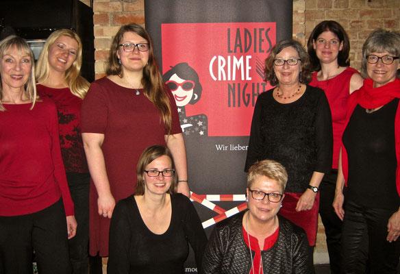 Von links nach rechts: Anita Konstandin, Kerstin Pflieger, Lisa Straubinger, Bianca Heidelberg, Petra Naundorf, Uschi Kurz, Mareike Fröhlich, Ulrike Blatter