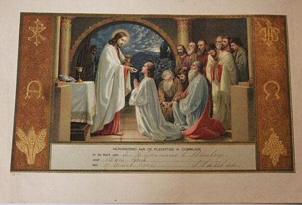 oorkonde plechtige heilige communie