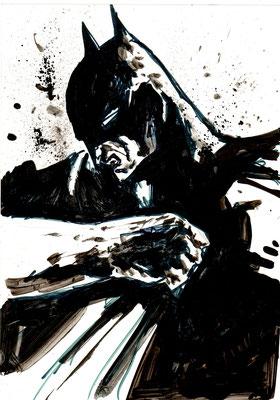 Batman : illustration, technique mixte 21x30