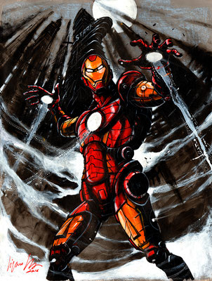 iron man 45,5x60 2016 technique mixte