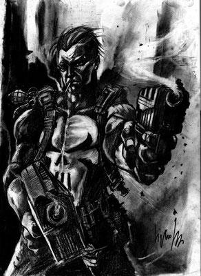 Punisher 34x45 technique mixte 2017