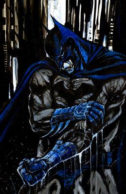 Batman illustration 29x45 sur papier technique mixte 2015