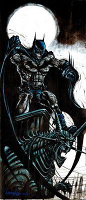 Batman back to Gotham 44x94 technique mixte 2016