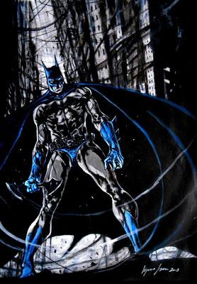 Batman : illustration 63x45 technique mixte