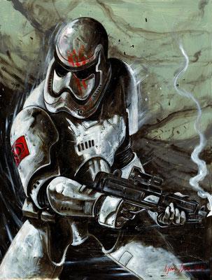stormtrooper 50x65  sur papier technique mixte 2016