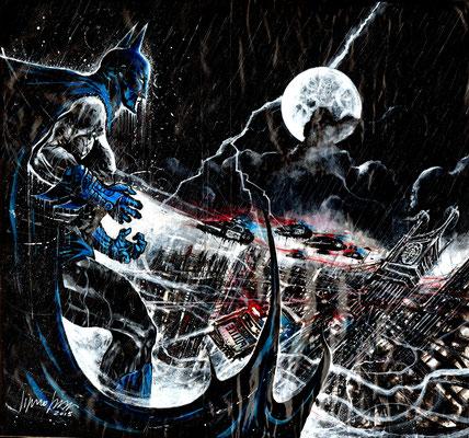 Batman back to Gotham  63,5x69 technique mixte 2016