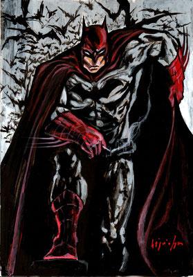 Batman : illustration, technique mixte 22x32