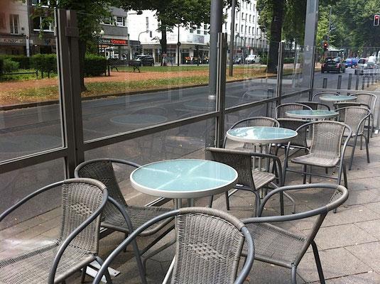 Windschutzwände aus Glas