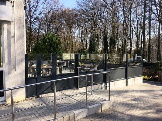 Windschutzanlage Terrasse Altersheim