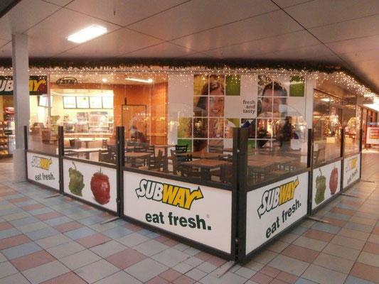 Trennwand Gastronomie Einkaufscenter
