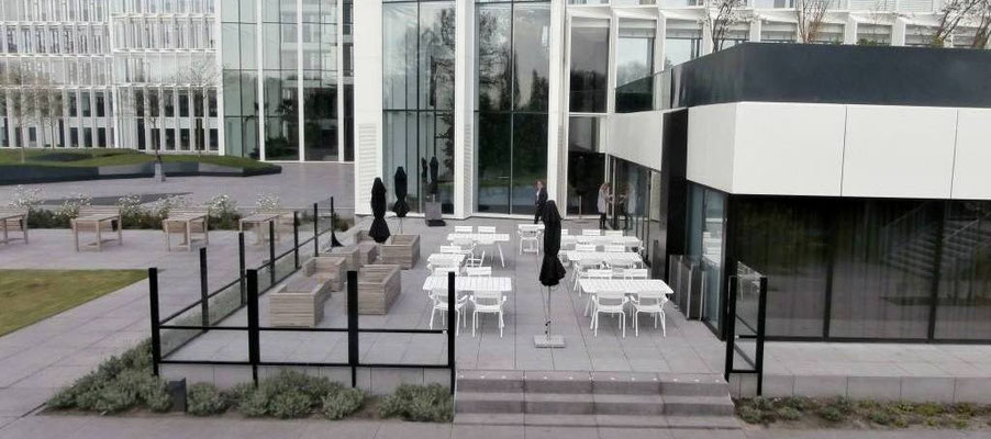 Windschutz Hotelterrasse