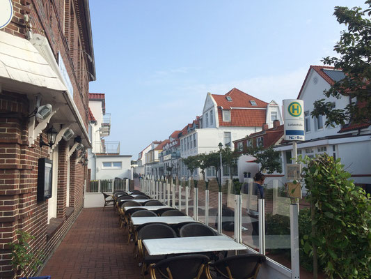 Windgeschütze Terrasse Gastronomie