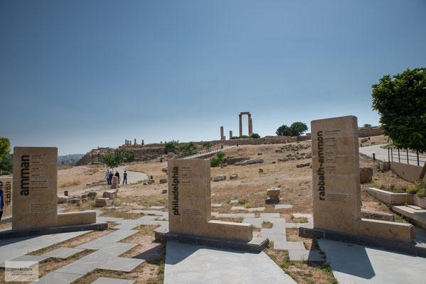 """Amman, die Hauptstadt, die Griechen nannten sie """"Philadelphia""""."""